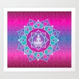 Buddha Lotus Art Print