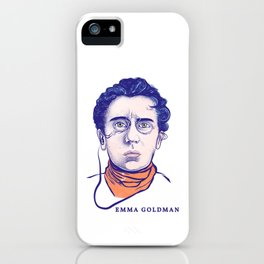 Portrait of the Political Activist and Writer Emma Goldman iPhone Case