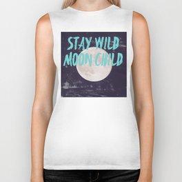 Stay Wild Moon Child Biker Tank