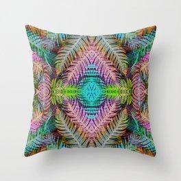 Rainbow Tribe Throw Pillow