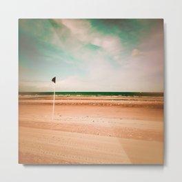 Beach flag Metal Print