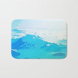 Fantasy Blue Mountaintop Bath Mat