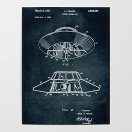 1968 - Flying saucer toy Poster