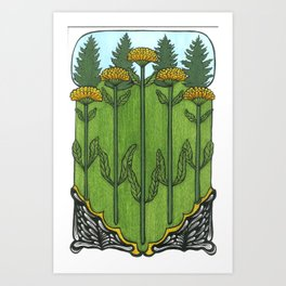Calendula Art Print