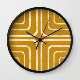 Yellow mustard bohemian design Wall Clock