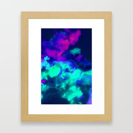 Glowing Grapes - Fruity Ink Fluid Framed Art Print