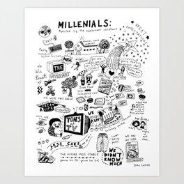 MILLENIALS - The Poster Art Print
