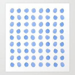 Blue Watercolor Circles Art Print