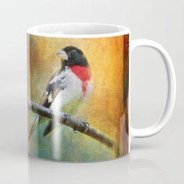 Rose-breasted Grosbeak ~ Ginkelmier Inspired Coffee Mug