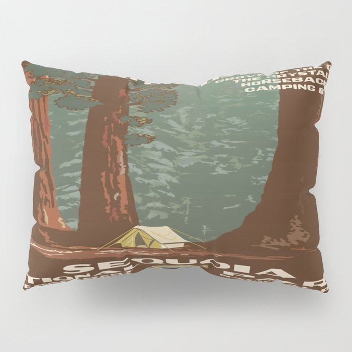 Vintage poster - Sequoia National ParkX Pillow Sham