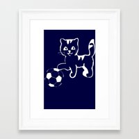 portlandia Framed Art Prints featuring Portlandia please win! meow, meow meow by junaputra