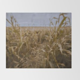Blur Corn field Throw Blanket