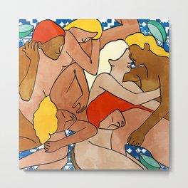 Turkish Bath #painting #illustration Metal Print
