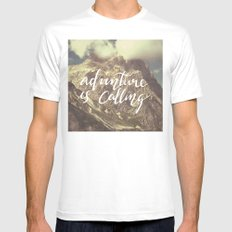 Adventure is calling White Mens Fitted Tee MEDIUM