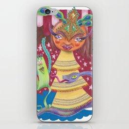 Goddess with Stars, Snake, and Bird iPhone Skin