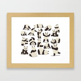 Pandas Party Framed Art Print