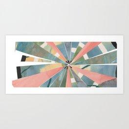 Pastel Collage Art Print
