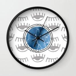 eye see ocean sky Wall Clock