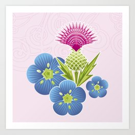 Flax & Thistle Art Print