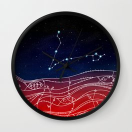 Pisces Constellation Design Wall Clock