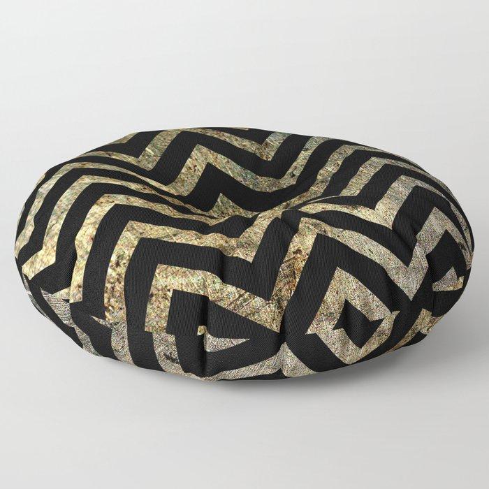 Brass Chevrons Floor Pillow