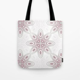 Feathers, Geometric Pattern in Mauve and Grey Tote Bag