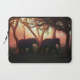 Elephant Sunset Laptop Sleeve