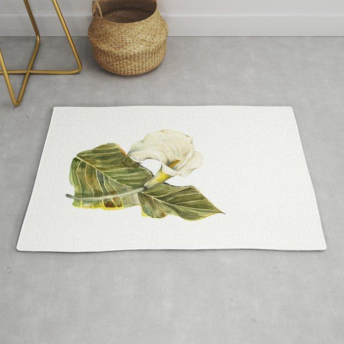 White Calla Lily Rug By Evgeniya Society6