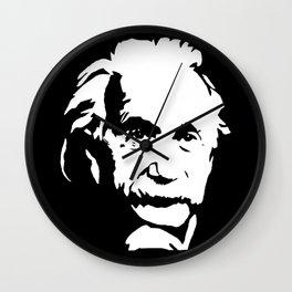 Portrait of Albert the Genius Wall Clock