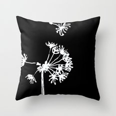 Dandelion 2 Drawing Throw Pillow