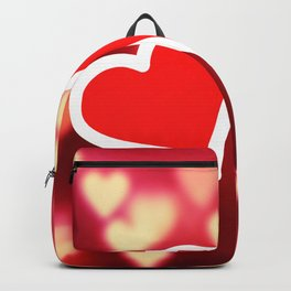 Valentine's Day Two Hearts Love Backpack