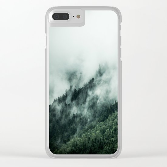 Foggy Woods 1 Clear iPhone Case