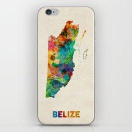 Belize Watercolor Map iPhone Skin