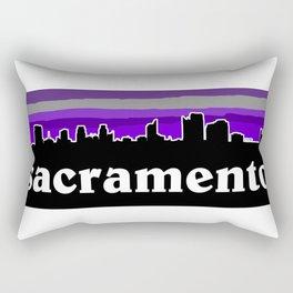 Sacramento Cityscape Rectangular Pillow