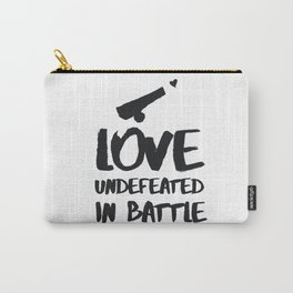 Love undefeated in battle Carry-All Pouch