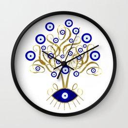 All Seeing Evil Eye Tree Wall Clock