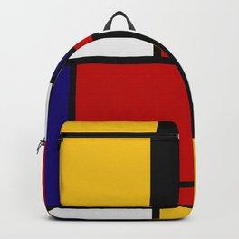 Mondrian De Stijl Art Movement Backpack