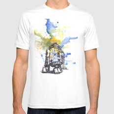 R2D2 from Star Wars 2X-LARGE White Mens Fitted Tee