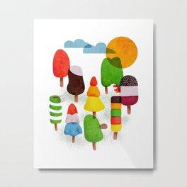 Popsicle Woods Metal Print