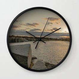 April Sunset at Halibut Wall Clock