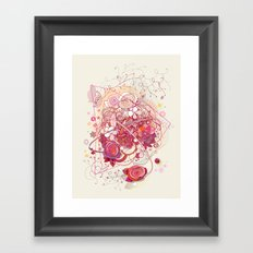 Floral universe orbit Framed Art Print