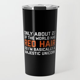 Red Hair Funny Quote Travel Mug