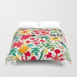 tropical botanical Duvet Cover