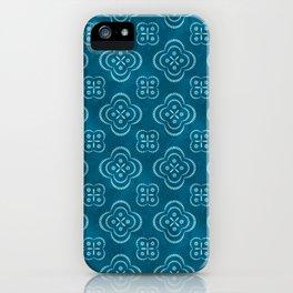 Dotty Batik (Seafoam Blue) iPhone Case