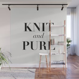 Knit & Purl Wall Mural