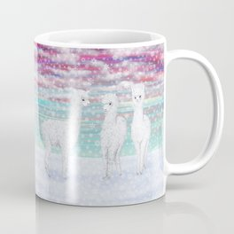 alpacas in the snow Coffee Mug