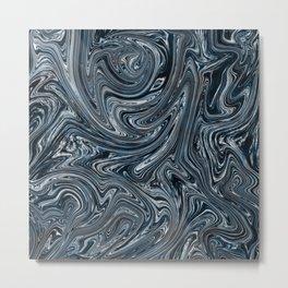 Blue Liquify Metal Print