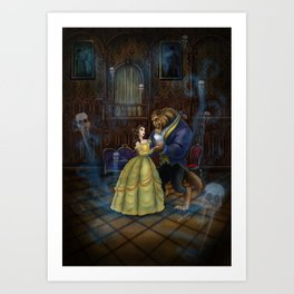 Haunted Beauty and the Beast by Topher Adam 2017 Art Print