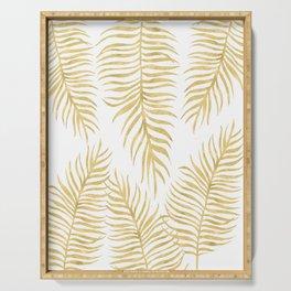 Fern Pattern Gold Serving Tray