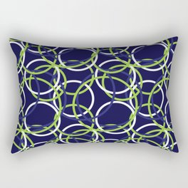 Blue, green, and white bangles Rectangular Pillow